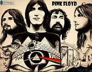 Digital Art Pastels Prints - Pink Floyd Print by Farhad Tamim