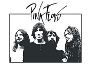 White  Digital Art Posters - Pink Floyd No.05 Poster by Caio Caldas