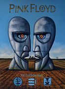 Singer Painting Prints - Pink Floyd - The Division Bell Print by Paul  Meijering