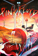 Wall Painting Posters - Pink Floyd The Wall Poster by Joshua Morton