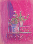 Magazine Pastels - Pink Geraniums by Marcia Meade