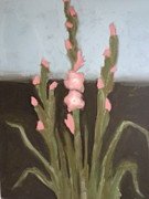 Gladiola Paintings - Pink Glads by Marie K Lynch