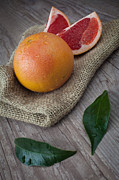 Grapefruit Acrylic Prints - Pink grapefruit Acrylic Print by Sabino Parente
