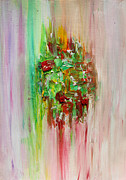 Julia Apostolova - Pink Green Abstract...