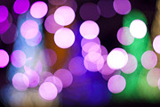 Holidays And Celebrations Prints - Pink Holiday Lights Print by Juli Scalzi
