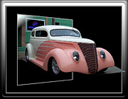 Pink Hot Rod Framed Prints - Pink Hot Rod 02 Framed Print by Thomas Woolworth