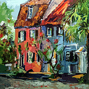 Charleston Houses Art - Pink House on Chalmers Street Charleston South Carolina by Ginette Callaway