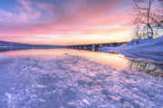 Susquehanna River Photos - Pink Ice by JC Findley