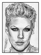 Soul Art Drawings - Pink in 2012 by J McCombie