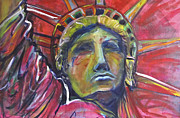 Liberty Paintings - Pink Is Powerful by Mary Gallagher-Stout