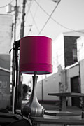 Thrown Away Posters - Pink Lamp in the Trash Poster by Nathan Hillis