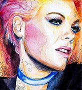Celebrity Mixed Media - Pink by Lyubomir Kanelov