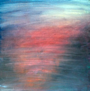 Night Glow Painting Originals - Pink Moment Ojai by  Zandra Lotus