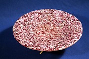 Pink Murrini Bowl With Stand View A Print by P Russell
