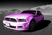 Custom Ford Metal Prints - Pink Mustang  Metal Print by Rob Hawkins