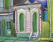 French Quarter Paintings - Pink Peaks by Charles Harrison