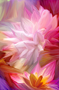 Photo Manipulation Mixed Media Posters - Pink Petal Painting Poster by Brandi Fitzgerald