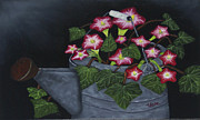 Edward C Van Wicklen Sr - Pink Petunias in...