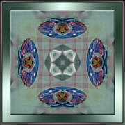 Mandala Photos - Pink Plaid by Michele Kaiser