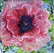 Regina Valluzzi - Pink poppy 3 by 3 in...