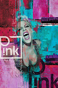 Pink Poster - B Print by Corporate Art Task Force