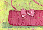 Abstract Purse Paintings - Pink Purse Party by Shalece Elynne