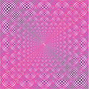 Op Art Digital Art - Pink Pyramid by Chris Long
