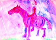Project Painting Prints - Pink Ride Print by Hilde Widerberg