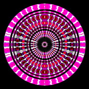 Square Digital Art - Pink Rings II by Visual Artist  Frank Bonilla