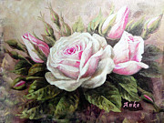 Anke Wheeler - Pink Rose and Buds