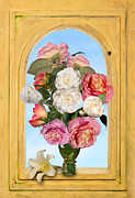 Heem Art - Pink Roses and White Peonis in Roemer in Open Niche by Levin Rodriguez