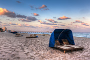 Cabanas Prints - Pink Sands Print by Debra and Dave Vanderlaan