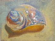Donna Shortt Painting Posters - Pink Shell Poster by Donna Shortt