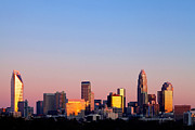 Mecklenburg County Photos - Pink skyline in Charlotte NC by Patrick Schneider