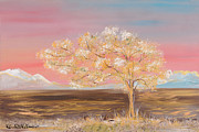 Print On Acrylic Prints - Pink skys Print by Roni Ruth Palmer