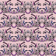 Abstract Prints - Pink slut Print by Sumit Mehndiratta