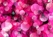 Photons Digital Art - Pink Soap Bubbles by Daniel Hagerman