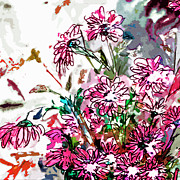 Ginette Fine Art LLC Ginette Callaway - Pink Spray Flower Art