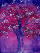 Fantasy Tree Art Paintings - Pink Spring Awakening by Brenda Owen