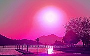 Pink Sunset Print by Naomi Richmond
