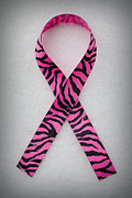Hoping Prints - Pink Tiger Ribbon Print by Luke Moore