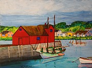 Old Sailing Ship Paintings - Pinky Schooner Maine at Motif 1 by Bill Hubbard