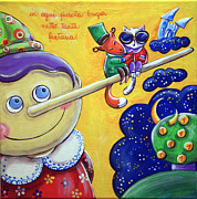 Rhyme Originals - Pinocchio With The Cat And The Fox by Raffaella Di Vaio