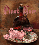 Pinot Noir Digital Art Framed Prints - Pinot Noir Vintage Advertisement Framed Print by