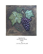 Grapes Reliefs - Pinot Wall Tile by Karl Sanders