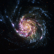 Galaxies Prints - Pinwheel Galaxy Rainbow Print by Adam Romanowicz