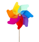 Pinwheel Isolated On White Print by Anna Kaminska