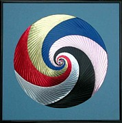 Artisan Made Framed Prints - Pinwheel Framed Print by Ron Davidson