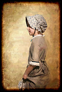 Textured Photograph Prints - Pioneer Girl Print by Betty LaRue