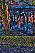 Moss Green Photo Framed Prints - Pioneer Square in Seattle Framed Print by David Patterson